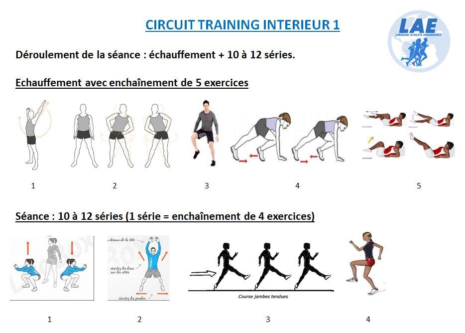 Séance entraînement intérieur n°1